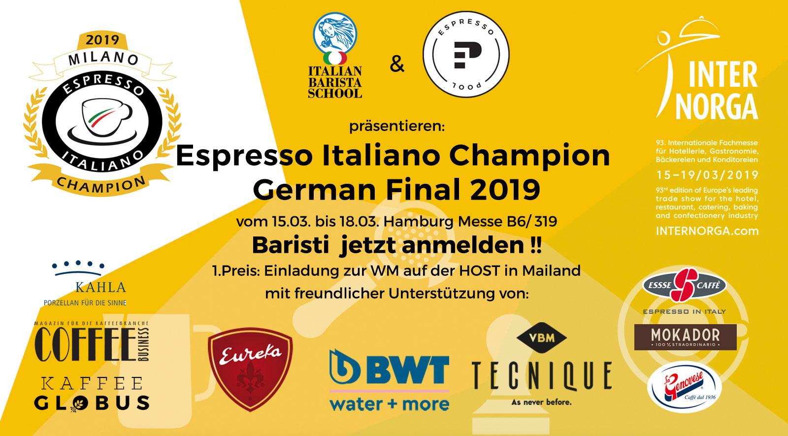 EspressoPool präsentiert: Die deutsche Espresso Italiano Barista Meisterschaft 2019