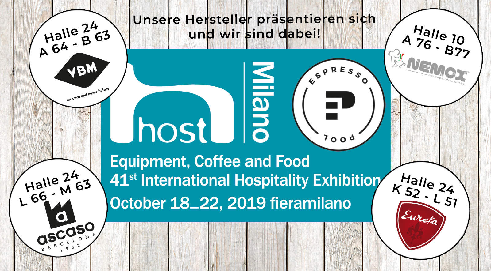 Equipment, Coffee and Food - HOST Milano 2019